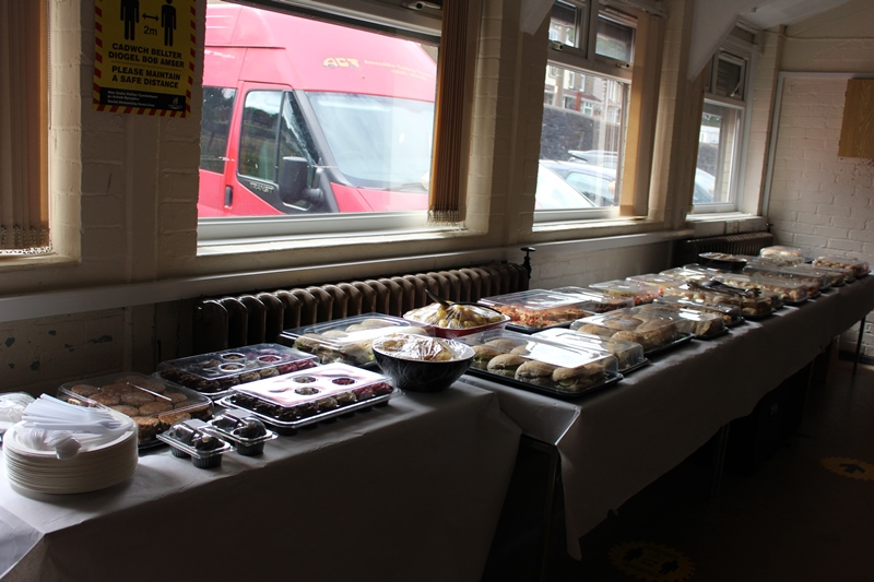 Buffet provided by the Feel Good Factory, Bryncynon Strategy in our Members Only Afternoon Tea in Darrenlas