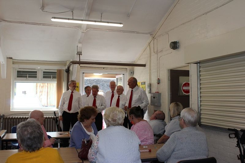 Members listening to the Croeso Singers at our Members Only Afternoon Tea in Darrenlas