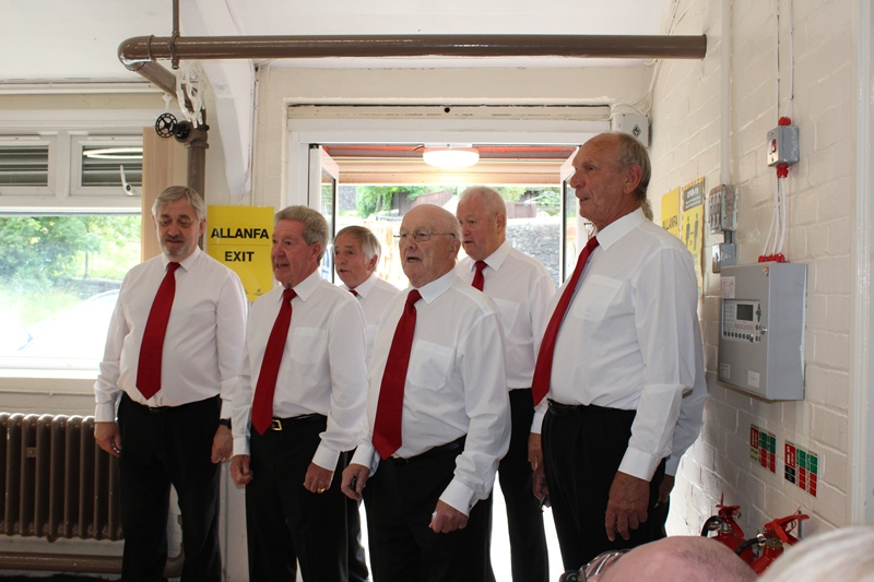 Croeso Singers performing at our Members Only Afternoon Tea in Darrenlas