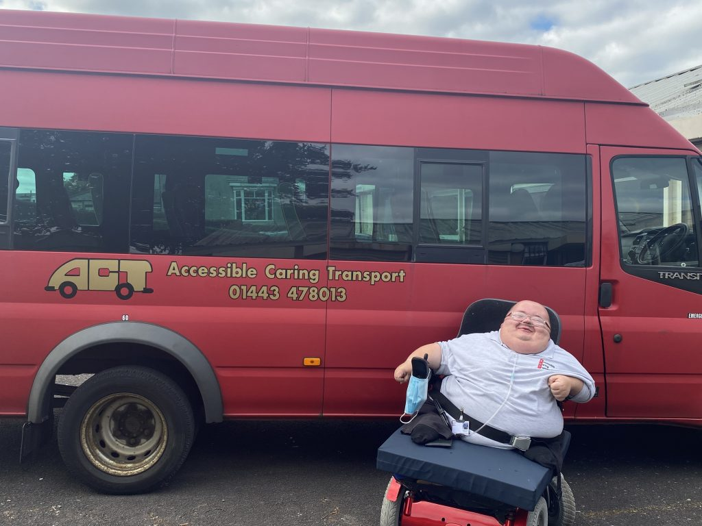 Chairperson Richard Jones sat in front of an ACT bus