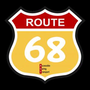 Route 68 logo